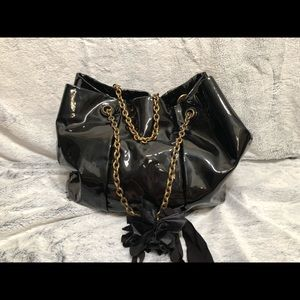 Black Lanvin Bag with Gold Chain Handle